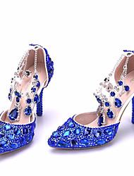 preiswerte -Damen Schuhe Glitzer Frühling Herbst Pumps Komfort High Heels Stöckelabsatz für Normal Gold Königsblau