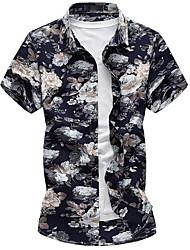 cheap -Men's Shirt - Floral Vintage Style