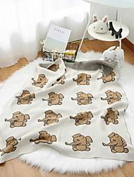 Недорогие -Трикотаж, Активный краситель Мультипликация Хлопок одеяла