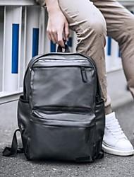 preiswerte -Herrn Taschen PU Rucksack Reißverschluss für Normal Draussen Ganzjährig Schwarz Grau Dunkelbraun