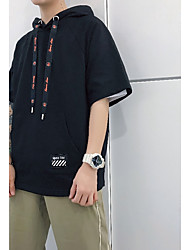 economico -T-shirt Per uomo A strisce Rotonda