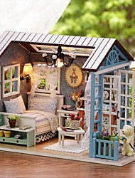 cheap -Doll House DIY Miniature Dollhouse Model Exquisite Lovely Romance Silicone Pieces Girls' Kid's Gift