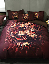 cheap -Duvet Cover Sets 3D Contemporary 3 Piece Polyster Reactive Print Polyster 3pcs (1 Duvet Cover, 2 Shams)