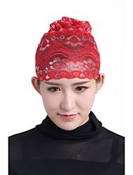 cheap -Women's Cute Casual Lace Hijab - Jacquard, Lace