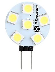 preiswerte -SENCART 1pc 1.5W 60-80 lm G4 LED Doppel-Pin Leuchten T 6 Leds SMD 5050 Dekorativ Warmes Weiß Weiß 12V
