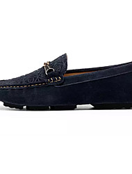 cheap -Men's Shoes Pigskin Spring / Fall Moccasin Loafers & Slip-Ons Brown / Blue / Khaki