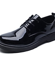 Недорогие -Муж. обувь Кожа / Полиуретан Лето Удобная обувь / Формальная обувь Туфли на шнуровке Черный / Платья