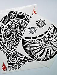 baratos -2 Ferramenta de decoração Séries Totem Tatuagens Adesivas