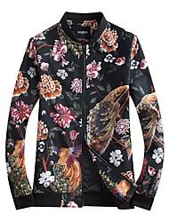 Недорогие -Муж. Куртка Цветочные/ботанический Современный стиль С принтом