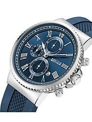 Недорогие -Муж. Кварцевый Спортивные часы Повседневные часы Японский Секундомер Защита от влаги силиконовый Группа Творчество Мода Черный Синий