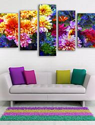 baratos -Estampados de Lonas Esticada Modern, 5 Painéis Tela de pintura Vertical Estampado Decoração de Parede Decoração para casa