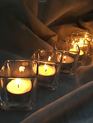 baratos -Estilo simples Moderno/Contemporâneo Vidro Suporte de Vela 6pcs, Candle / Candle Holder