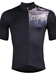cheap -SPAKCT Men's Short Sleeve Cycling Jersey - Black Bike Jersey, Quick Dry / Expert / YKK Zipper / Italy Imported Ink / Breathable Armpits