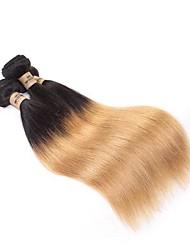 Недорогие -Не подвергавшиеся окрашиванию Remy плетение волос Мужское плетение Прямой Бразильские волосы Связки 0.3kg 12 месяцев фестиваль