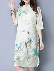 cheap -Women's Chinoiserie Tunic Dress - Floral