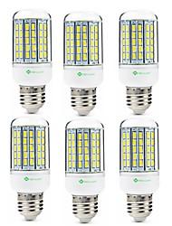 cheap -SENCART 6pcs 8W 420lm E14 / GU10 / B22 LED Corn Lights T 96 LED Beads SMD 5630 Decorative Warm White / Cold White 110-120V / 200-240V