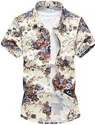 baratos -Homens Camisa Social Simples Estilo Clássico, Geométrica