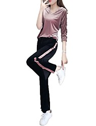 cheap -Women's Cute Set - Striped Pant