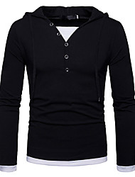 cheap -Men's Street chic Cotton Slim T-shirt - Solid Colored V Neck