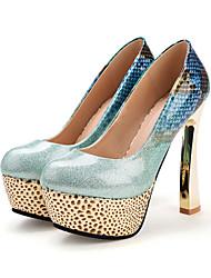 abordables -Femme Chaussures Polyuréthane Printemps Automne Nouveauté Confort Chaussures à Talons Talon Bottier Bout rond Noeud Boucle pour Bureau et