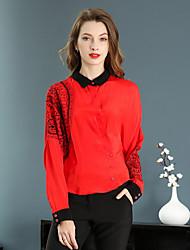 cheap -YZXH Women's Blouse - Floral Shirt Collar