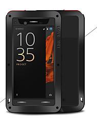 baratos -Capinha Para Sony Xperia XZ Água / Dirt / à prova de choque Capa Proteção Completa Côr Sólida Rígida Metal para Sony Xperia XZ