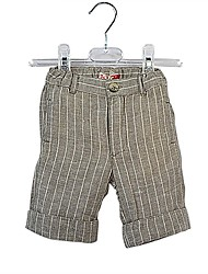 cheap -Baby Boys' Daily Solid Shorts, Linen Summer Simple Casual Short Sleeves Khaki
