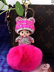 cheap -Fashion Keychain Favors Crystal Rabbit Hair Keychain Favors - 1
