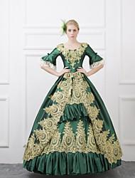 abordables -Conte de Fée Costume de père noël Renaissance Costume Femme Robes Costume Bal Masqué Costume de Soirée Tenue Bleu Rouge Vert Vintage