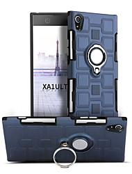 abordables -Coque Pour Sony Xperia XA1 Ultra Antichoc Anneau de Maintien Rotation 360° Coque Couleur unie Dur PC pour Sony Xperia XA1 Ultra