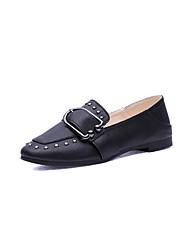 preiswerte -Damen Schuhe PU Frühling Sommer Komfort Pumps High Heels Stöckelabsatz Spitze Zehe Schnalle für Kleid Party & Festivität Büro & Karriere