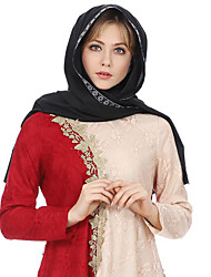 cheap -Women's Basic Polyester Hijab - Floral Layered