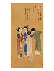 cheap -Rolled Canvas Prints Classic, One Panel Brocade Xuan paper Vertical Print Wall Decor Home Decoration