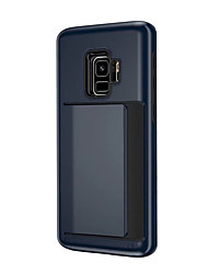 Недорогие -Кейс для Назначение SSamsung Galaxy S9 / S9 Plus / S8 Plus Бумажник для карт Кейс на заднюю панель Однотонный Твердый пластик