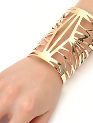 preiswerte -Damen Armreife Manschetten-Armbänder - Rostfrei Modisch, überdimensional Armbänder Gold / Silber Für Zeremonie Party