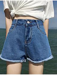 economico -pantaloncini corti micro-elastici da donna di media altezza, vintage in cotone massello di lino fibra di bambù con molla acrilica
