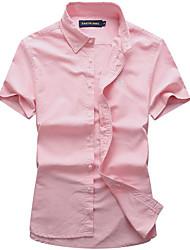 preiswerte -Herrn Solide - Retro Hemd Grundlegend