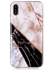 Недорогие -Кейс для Назначение Apple iPhone X / iPhone 8 IMD / С узором Кейс на заднюю панель Сияние и блеск / Мрамор Мягкий ТПУ для iPhone X / iPhone 8 Pluss / iPhone 8