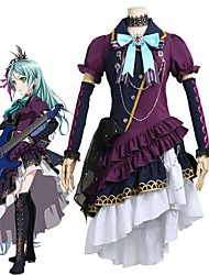 cheap -Inspired by BanG Dream Cosplay Anime Cosplay Costumes Cosplay Suits Other Short Sleeves Cravat Dress More Accessories Headwear For Men's