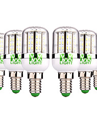 cheap -YWXLIGHT® 6pcs 5W 300-500 lm E14 LED Corn Lights 48 leds SMD 3014 Warm White Cold White AC/DC 12-24V