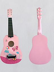 baratos -Guitarra Fofinho Estilo Mini Simples Desenho Animado de madeira 6 Guitarra Bolsa de Ofertas