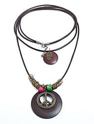 Недорогие -Муж. Жен. Богемные Слоистые ожерелья  -  Богемные Массивный Готика Знак мира Коричневый Ожерелье Назначение День рождения Школа