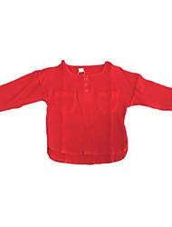abordables -Pull à capuche & Sweatshirt Fille Quotidien Couleur Pleine Polyester Printemps Manches Longues simple Vert Blanc Rouge