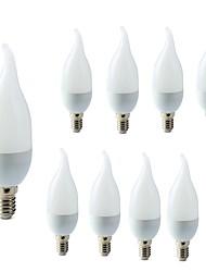 abordables -10pcs 2W 200lm E14 Ampoules Bougies LED C35L 10 Perles LED SMD 2835 Décorative Blanc Chaud Blanc Froid 220-240V