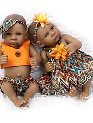 Недорогие -NPKCOLLECTION NPK DOLL Куклы реборн Кукла для девочек Девочки 10 дюймовый Полный силикон для тела Силикон Винил - Новорожденный как живой Милый стиль Ручная работа Безопасно для детей Non Toxic