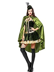 abordables -Superhéros Princesse Robes Costume de Cosplay Halloween Carnaval Nouvel an Fête / Célébration Tenue Vert Bloc de Couleur Autre Animal
