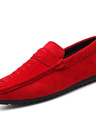 abordables -Homme Chaussures Polyuréthane Printemps Automne Confort Chaussures d'Athlétisme Marche pour Athlétique Noir Rouge