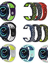 Недорогие -Ремешок для часов для Gear Sport / Gear S2 Classic Samsung Galaxy Спортивный ремешок силиконовый Повязка на запястье