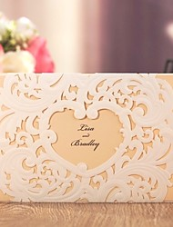 cheap -Z-Fold Wedding Invitations 20 - Invitation Cards Classic Style Embossed Paper Embossed
