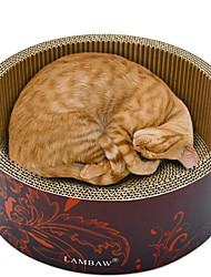 Недорогие -Коты Кровати Животные Подкладки Однотонный Креатив Учебный Избавляет от стресса Прочный Желтый Кофейный Красный Синий Для домашних